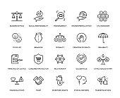 Business Ethics Icon Set