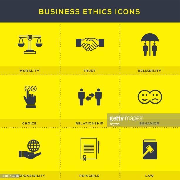 Business Ethics Icons Set