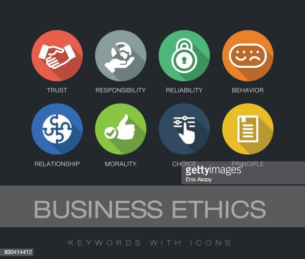 Business Ethics keywords with icons
