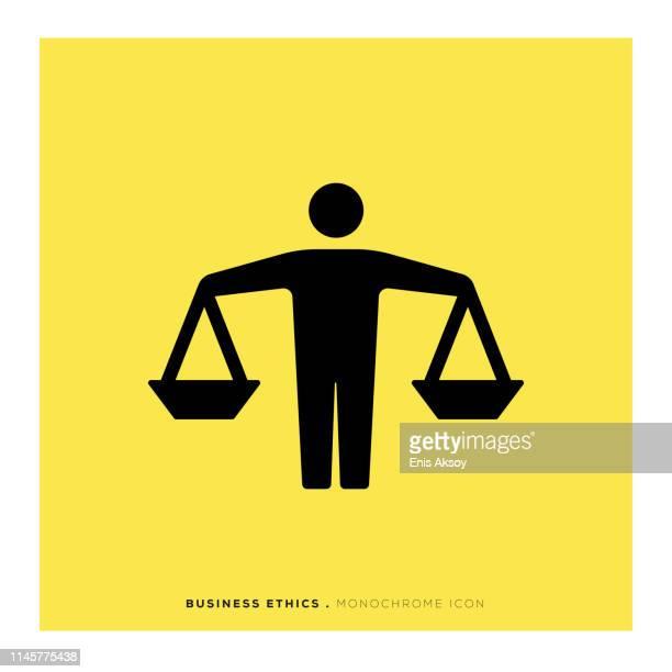 Business Ethics Monochrome Icon