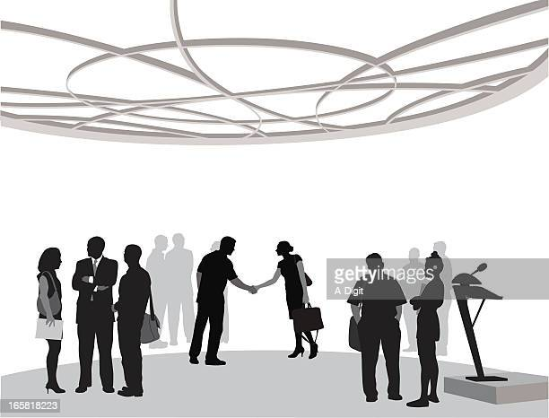 businessevent - konferenz stock-grafiken, -clipart, -cartoons und -symbole