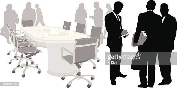 Business Event Vector Silhouette