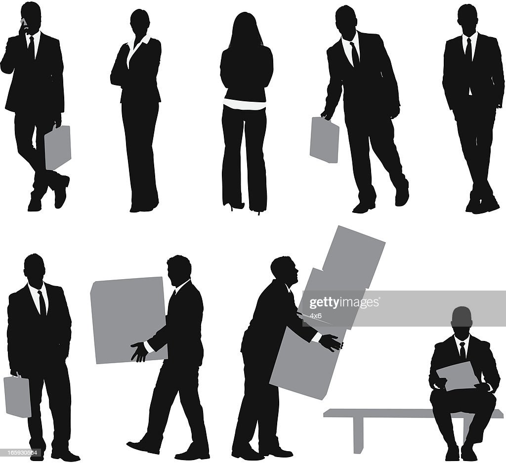 Vector Stock - Smiling business manager. Clipart Illustration gg64331773 -  GoGraph