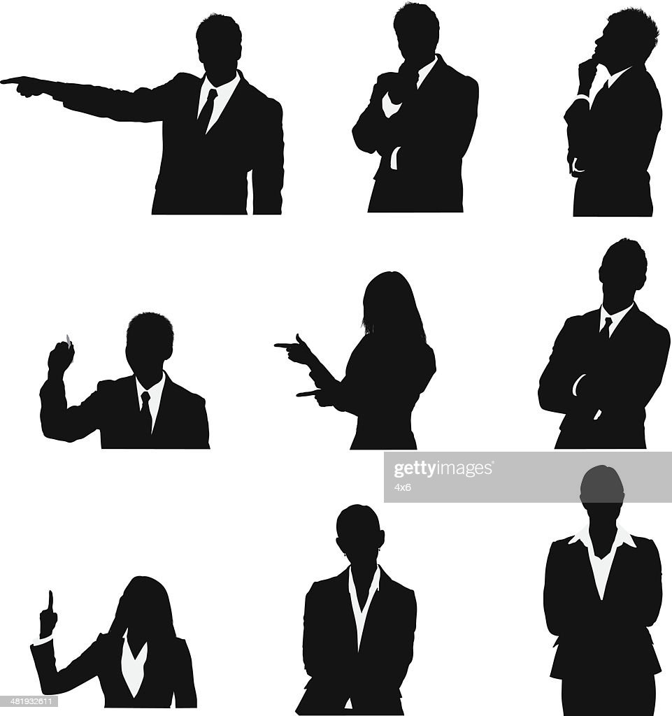 Business executives in different poses : stock illustration