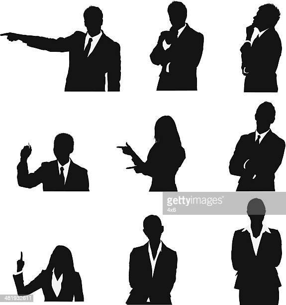 Business executives in different poses