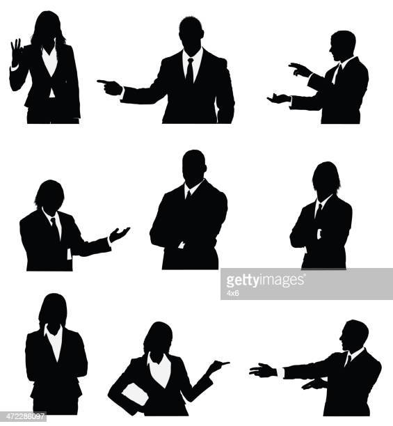 Business executives presenting