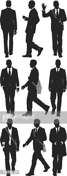 business executives - shoulder bag stock illustrations
