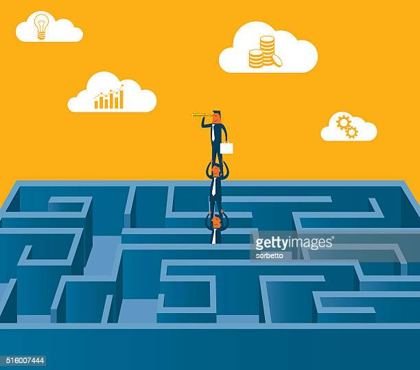 business explorer - rivalry stock illustrations