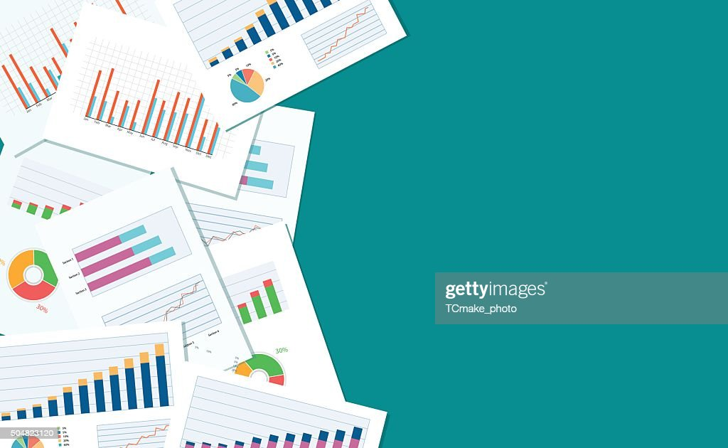 business finance and investment banner and mobile device for business.report paper