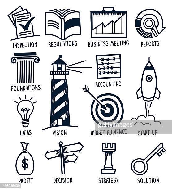 Business & Finance Doodles