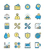 Business Finance icon, Monochrome color - Vector Illustration