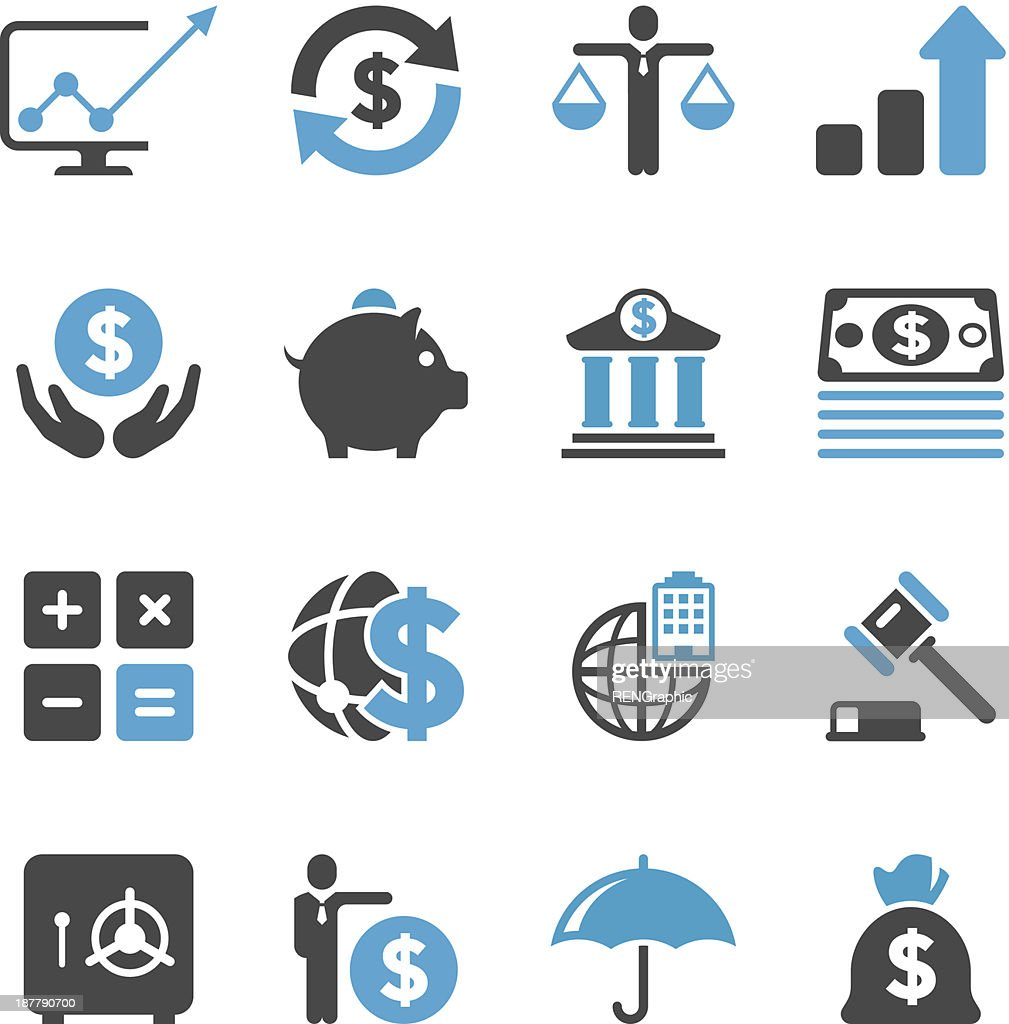 Business & Finance Icon Set | Concise Series : stock illustration