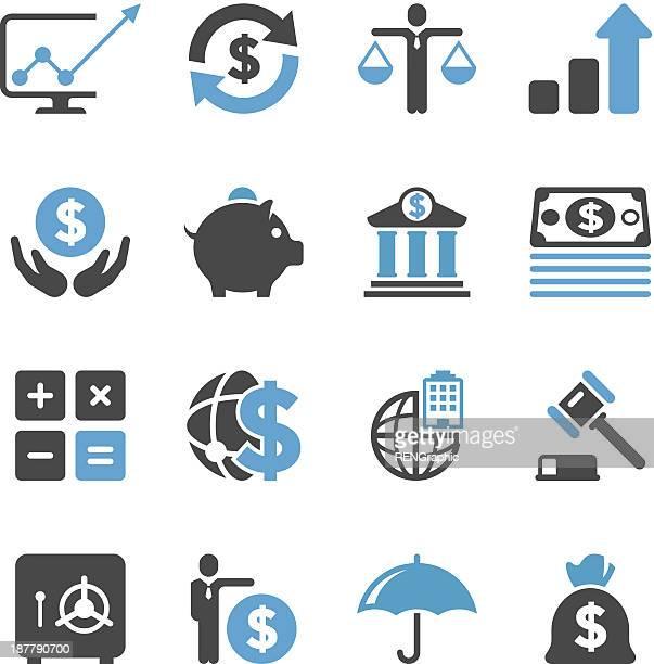ビジネス&金融のアイコンセット/簡潔シリーズ