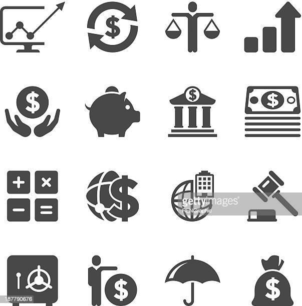 ilustraciones, imágenes clip art, dibujos animados e iconos de stock de & conjunto de iconos de negocios, finanzas/serie único - bolsa de dinero