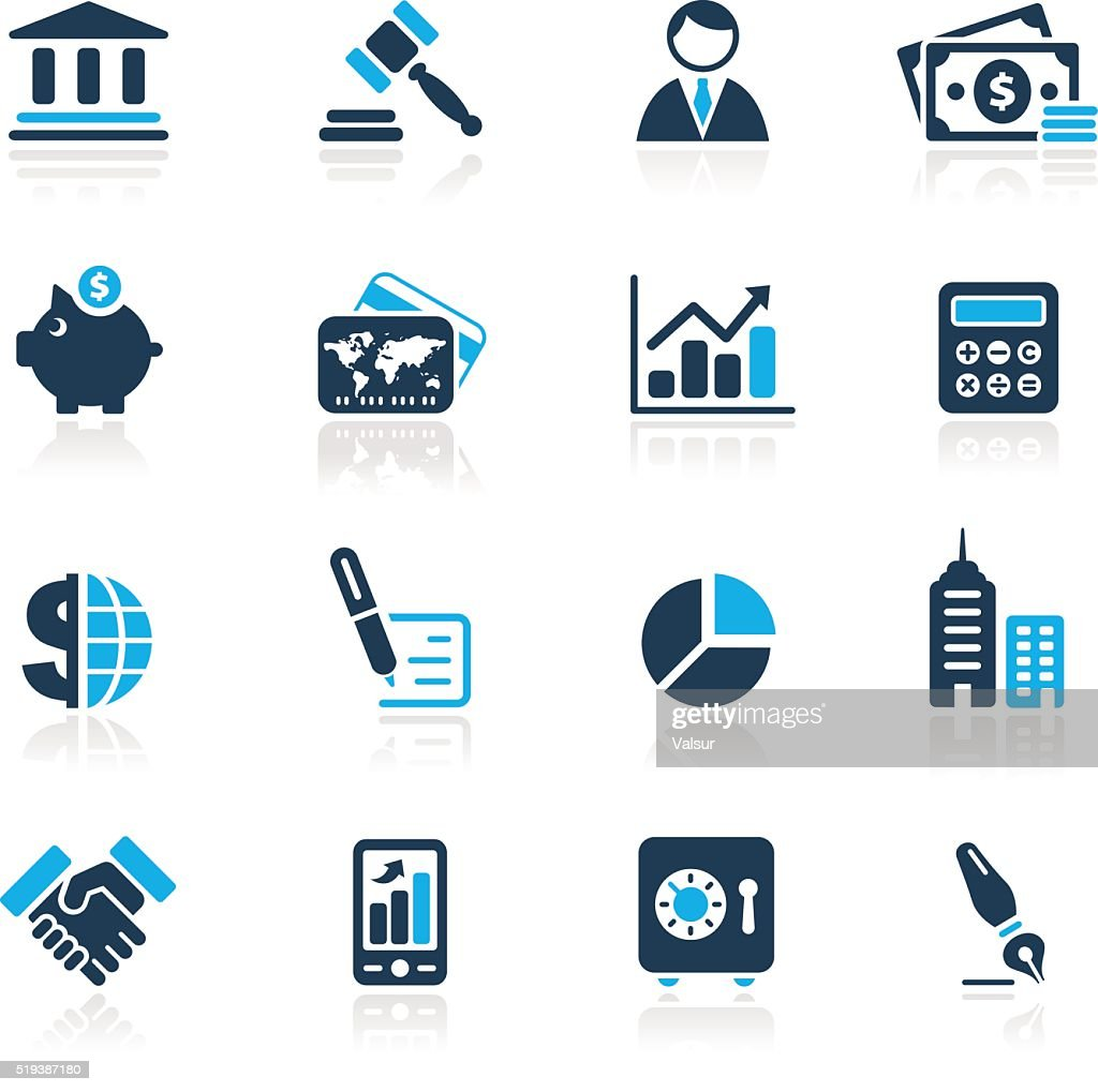 Business & Finance Icons // Azure Series