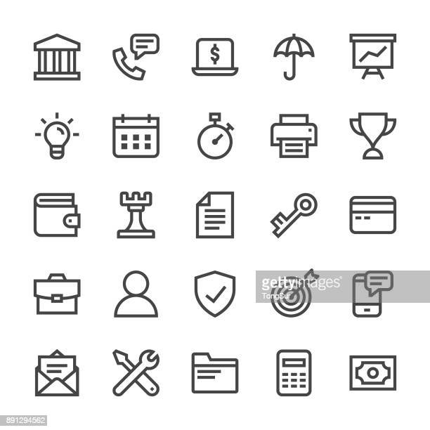 Business & Finance Icons - MediumX Line