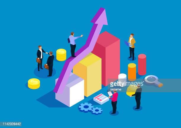 illustrations, cliparts, dessins animés et icônes de plan d'investissement de financement d'affaires et concept de développement - retraite