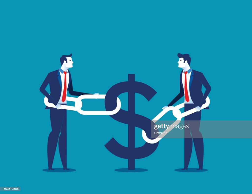 Business financial issues. Concept business finance vector illustration.