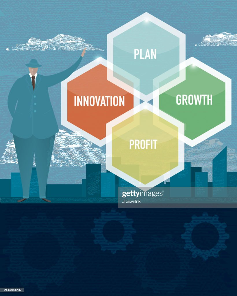 Business financial planning concept with business man