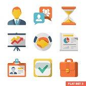 Business Flat icon set