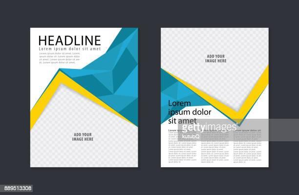 Business flyer design template. Modern brochure, leaflet, catalog, magazine layout in letter size