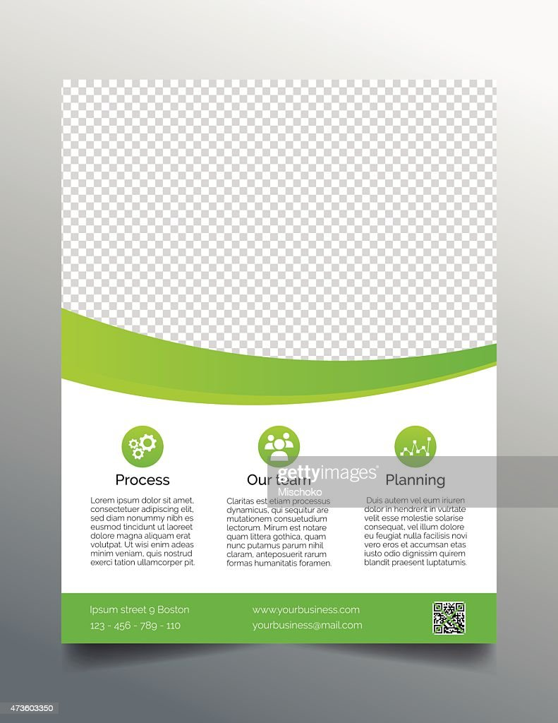 Business flyer template - simple sleek design in bright green
