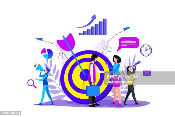 business goals concept - aspirations stock illustrations