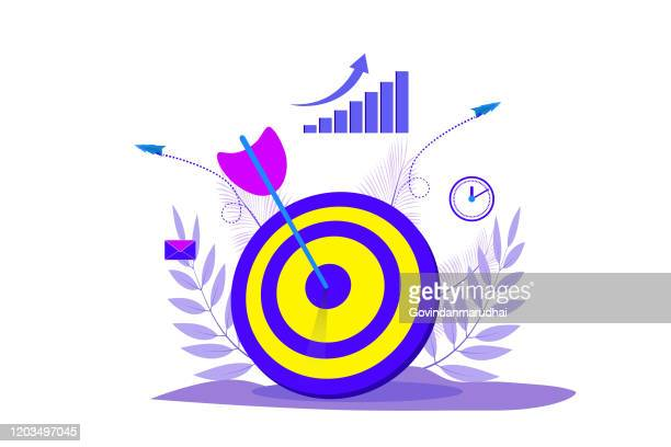 business goals concept - point scoring stock illustrations