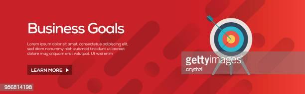 ilustrações, clipart, desenhos animados e ícones de negócios objetivos plana web banner - e commerce