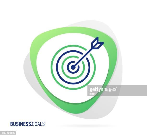 ビジネス目標のアイコン - ゴールを狙う点のイラスト素材/クリップアート素材/マンガ素材/アイコン素材