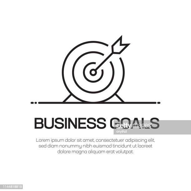 business goals vector line icon - simple thin line icon, premium quality design element - accuracy stock illustrations