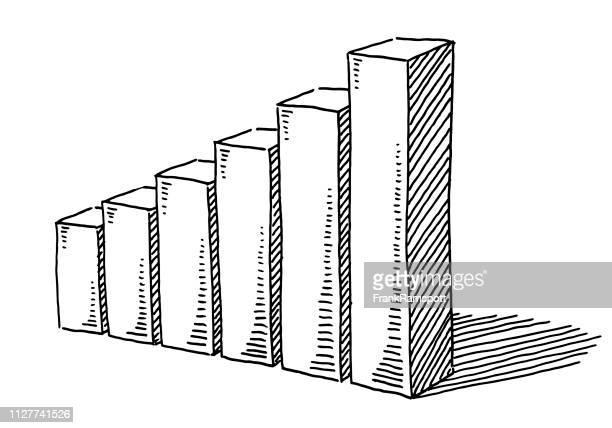 Business Graph Diagramm Erfolg Zeichnung