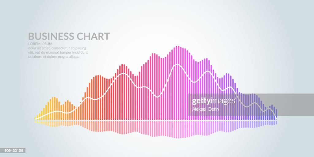 Business graph on a white background. Chart analysts of growth and falling profits