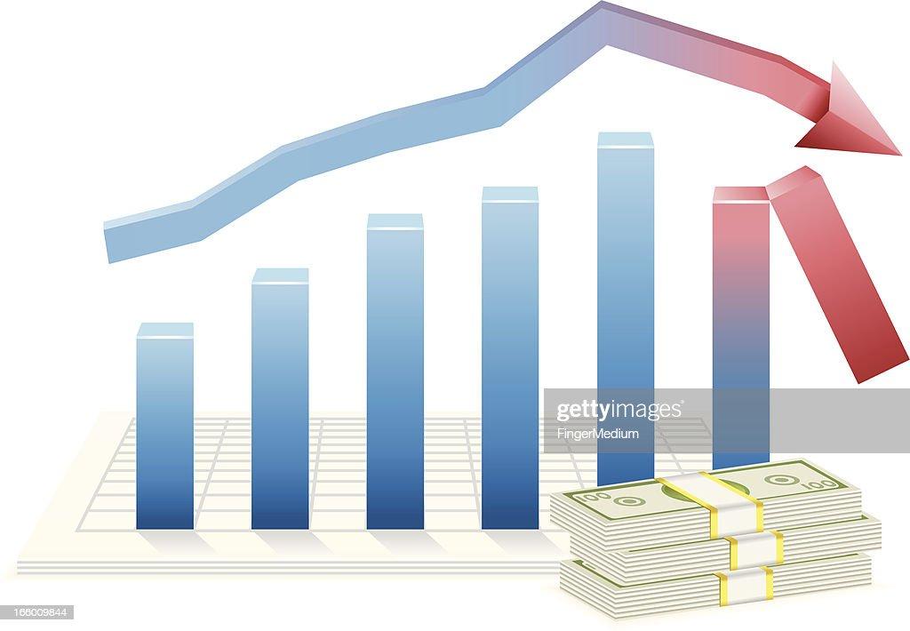 Gráfico de Negócios : Ilustração de stock