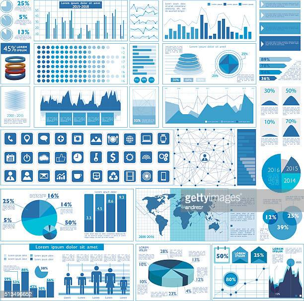 business graphs - business strategy stock illustrations