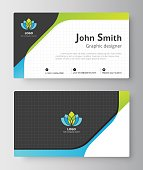 Business greeting card template design.