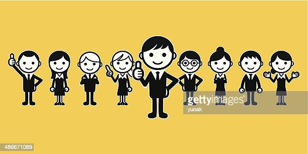 business group - new hire stock illustrations