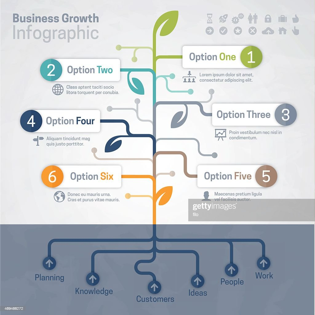 Business Growth Infographic : stock illustration