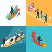 Business, Growth, Teamwork, Target concept.