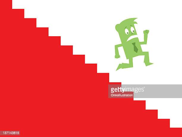 Business Guy Downward Stairs