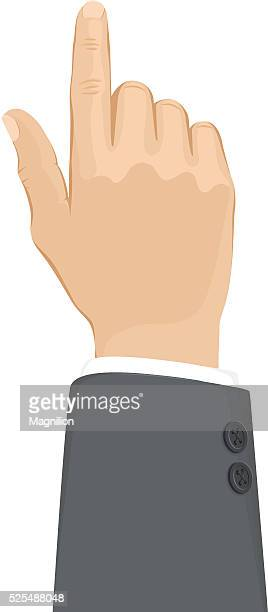 business hand touch - aiming stock illustrations