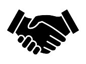 Business handshake / contract agreement flat icon for apps and websites