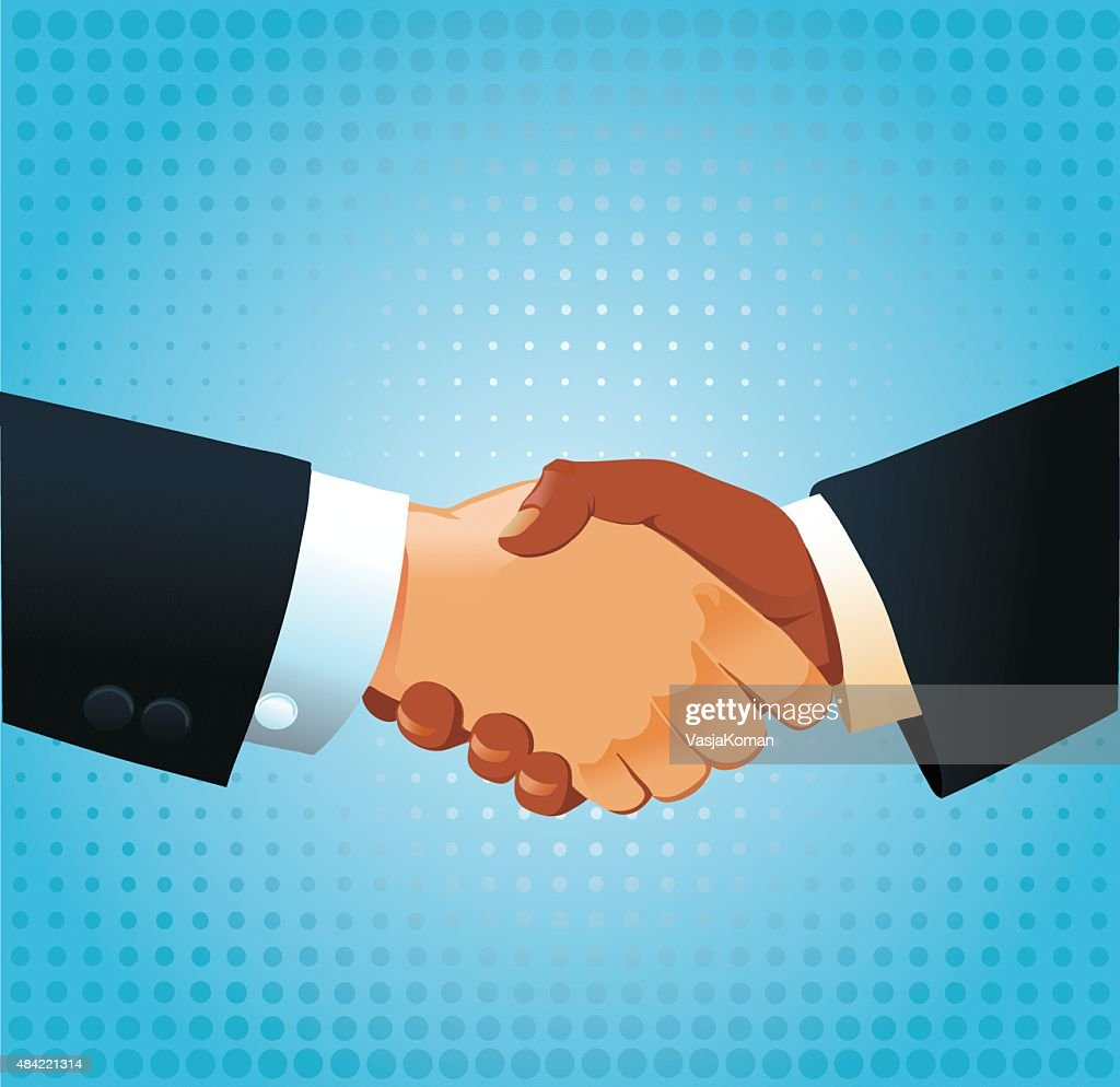 Business Handshake - Mixed Ethnicity : stock illustration