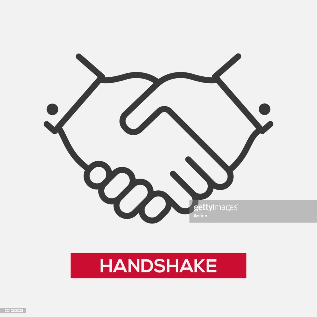Business handshake single icon