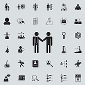 business handshakeicon. HR & Heat hunting icons universal set for web and mobile