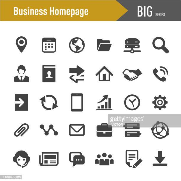 business homepage icons - big series - information symbol stock illustrations