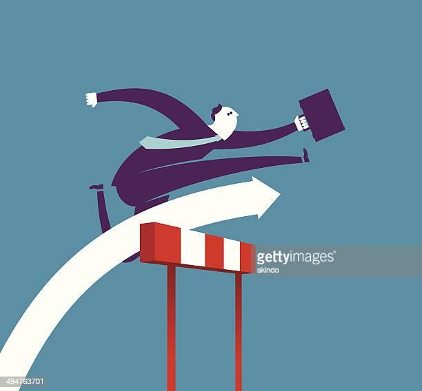 ilustraciones, imágenes clip art, dibujos animados e iconos de stock de vallista de negocios - pista de atletismo