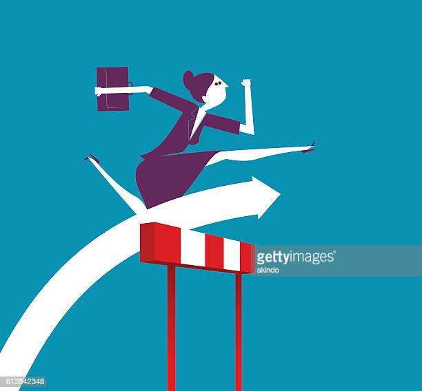 business hurdler - hurdle stock illustrations