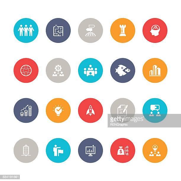 business icon set   5color series - cash management stock illustrations, clip art, cartoons, & icons