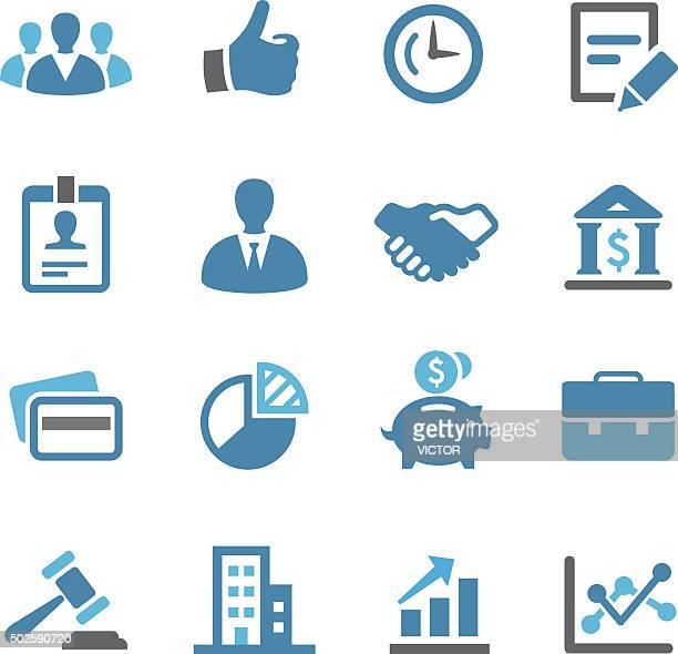 ilustrações, clipart, desenhos animados e ícones de conjunto de ícones de negócios-saguão series - portfolio